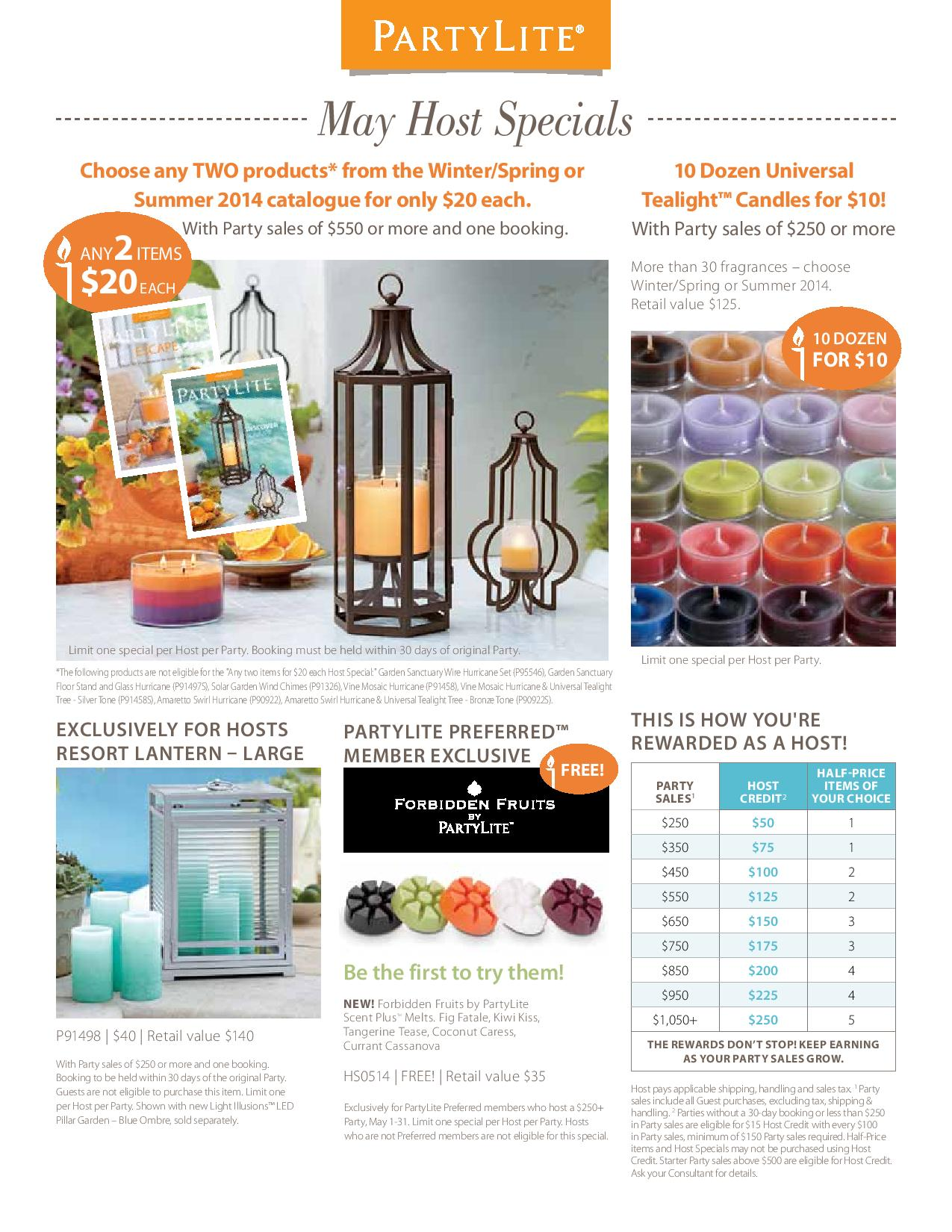 Partylite coupon code canada