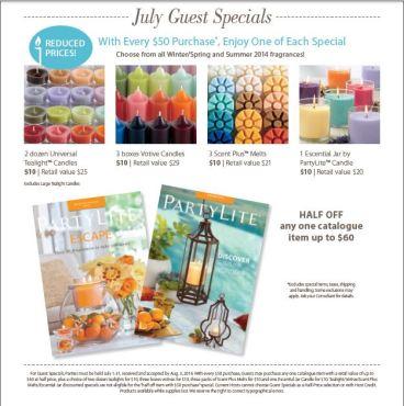 july guest specials