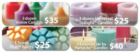 wax speicals from partylite canada