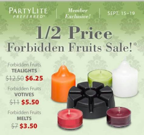 Forbidden Fruits PartyLite Sale